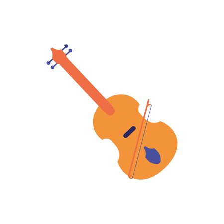 Isolated violin instrument flat design
