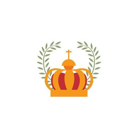 crown emblem antique medieval flat design Иллюстрация