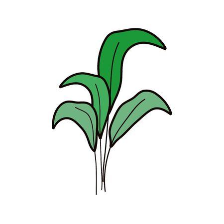 green leaves folaige nature decoration icon