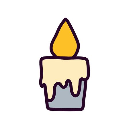 burning candle decoration celebration icon Ilustracja