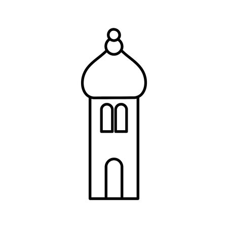 arabic castle tower classic antique icon thick line