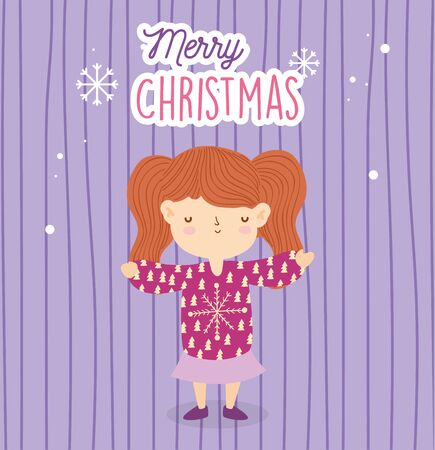 merry christmas girl with sweater