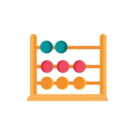 icône de l'école et de l'éducation boulier Vecteurs