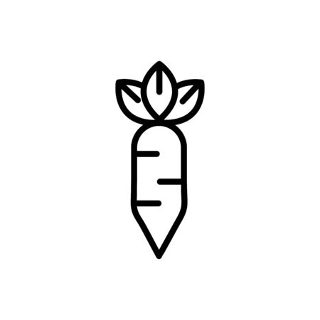 carrots rural agriculture thick line vector illustration