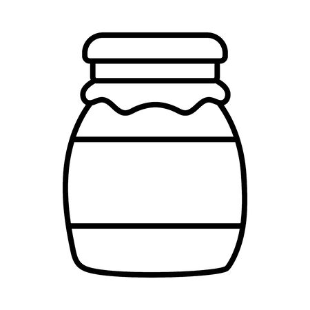 jar fresh food design icon vector illustration thick line