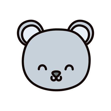 cute bear head cartoon icon