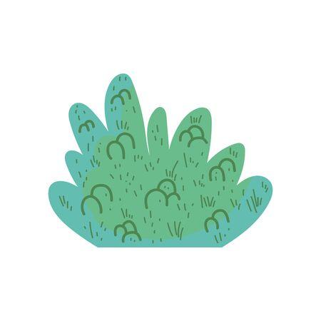 bush foliage nature forest icon Ilustração