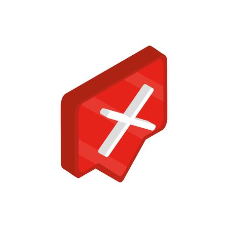 error sign social media isometric icon Illusztráció