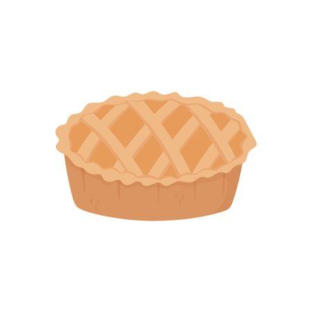 sweet pie dessert on white background Illustration