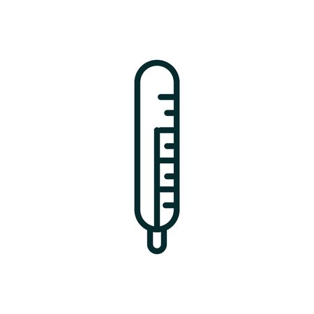thermometer temperature equipment medical icon line Ilustrace