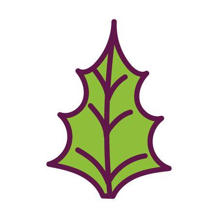 green leaf nature foliage on white background Ilustração