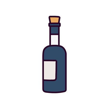 wine bottle beverage celebration on white background