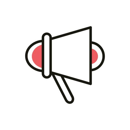 marketing speaker social media icon line and fill