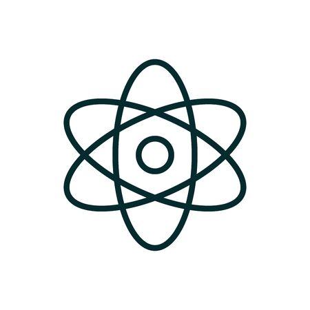 science molecule atom medical icon line