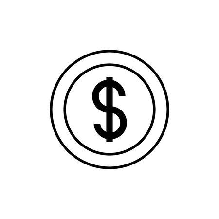 money coin commerce shopping line image icon