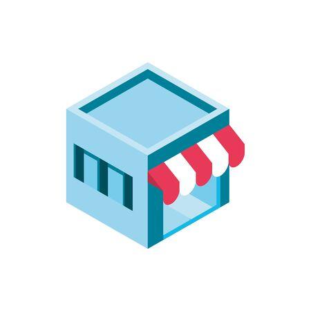 market online shopping isometric icon