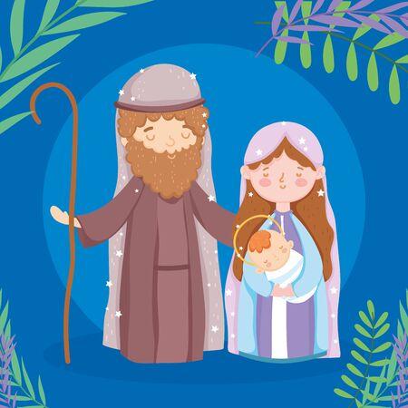 mary joseph and baby jesus manger nativity, merry christmas