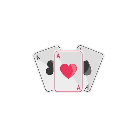 Isolated casino cards flat design Illustration
