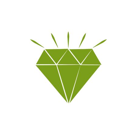 Isolated diamond icon silhouette design
