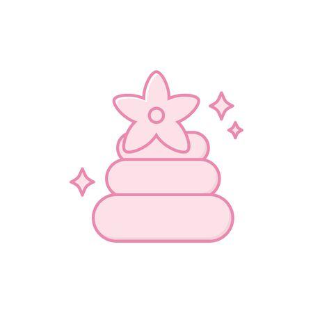 Isolated spa stones icon fill design