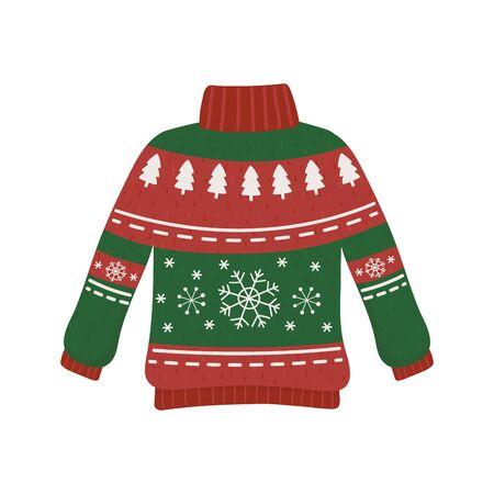 natale rosso e verde brutto maglione partito decorativo