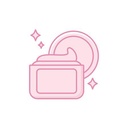 Isolated hair cream icon fill design