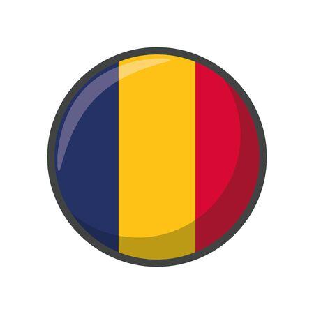Isolated chad flag icon block design