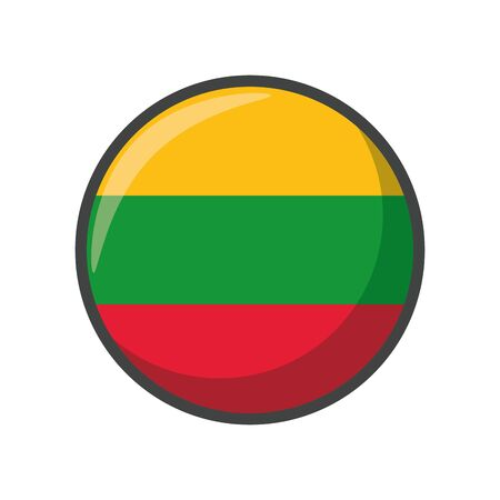 Isolated lithuania flag icon block design