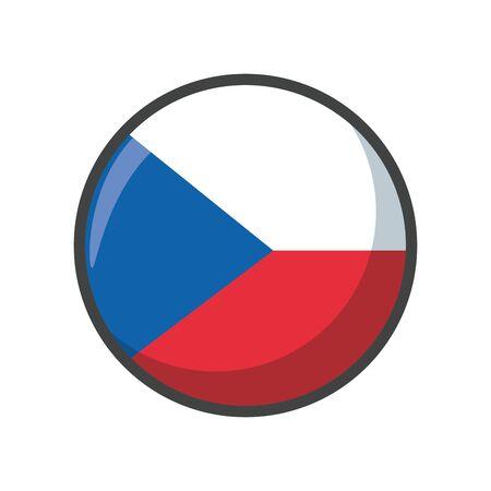 Isolated czech republic flag icon block design