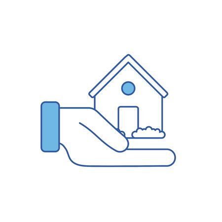 Isolated house icon fill design
