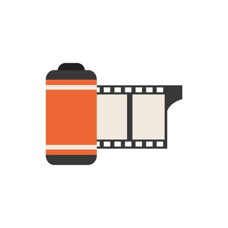 Isolated camera roll icon flat design