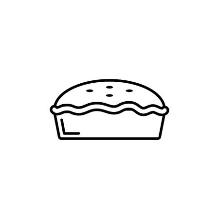 Isolated sweet cake icon line design Çizim