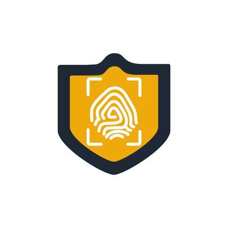 security fingerprint reader flat style icon Vettoriali