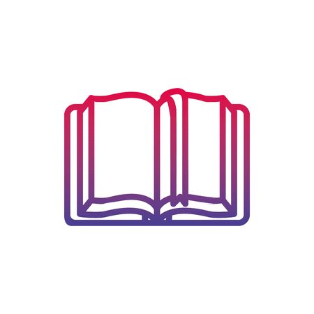 magical book fantasy line gradient icon  イラスト・ベクター素材