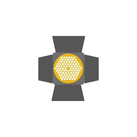 floodlights energy electricity light flat icon