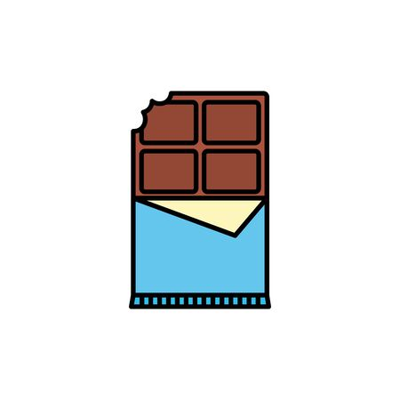Isolated sweet chocolate icon fill design