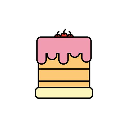 Isolated sweet cake icon fill design Illusztráció