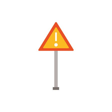Isolated construction road sign flat design Ilustrace