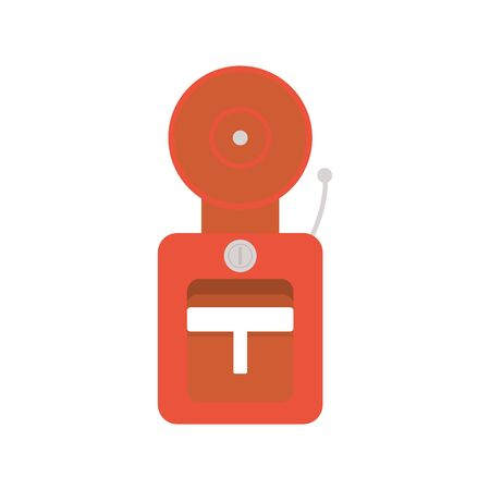 fire alarm flat style icon