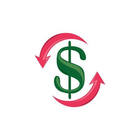 Diseño plano de icono de dinero aislado