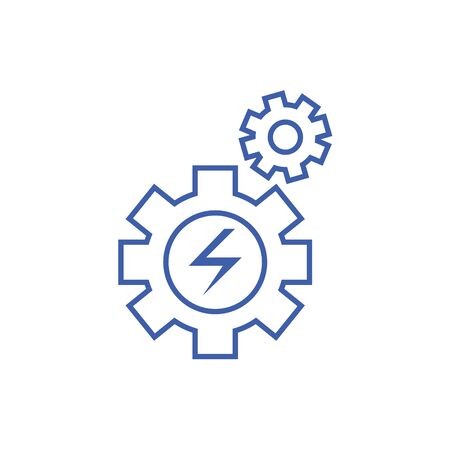 Isolated gear icon line design Stock Illustratie