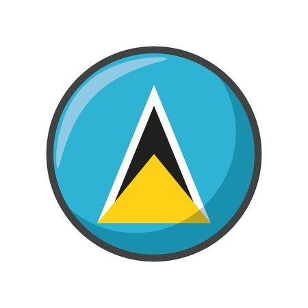 Isolated st lucia flag icon block design Illustration