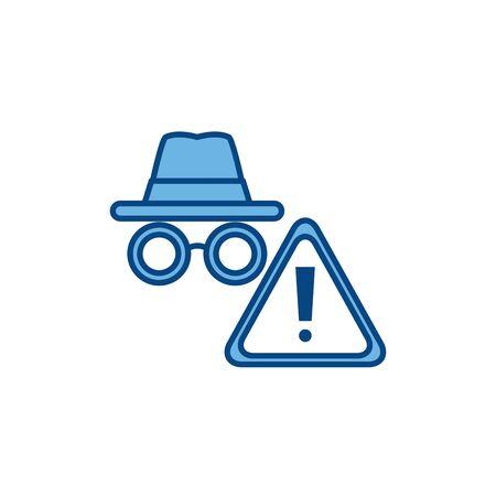 hacker alert internet line and fill