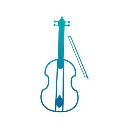 Isolated violin instrument gradient design