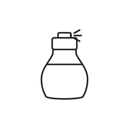 Isolated perfum bottle line design Vecteurs