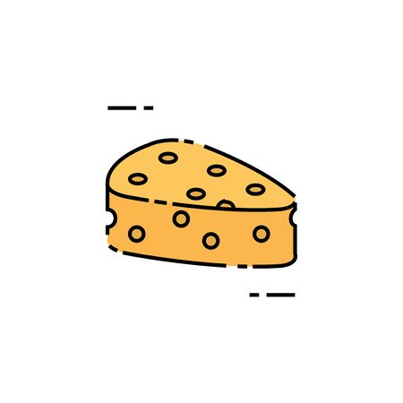 Isolated cheese icon fill design
