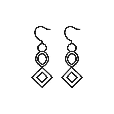 Isolated earrings icon line design