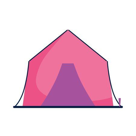summer tent fill style icon Иллюстрация