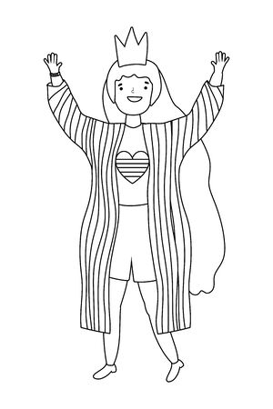 Woman supporting LGBT march design vector illustration Stock Illustratie