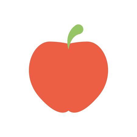 Isolierte Apfelsymbol flaches Design